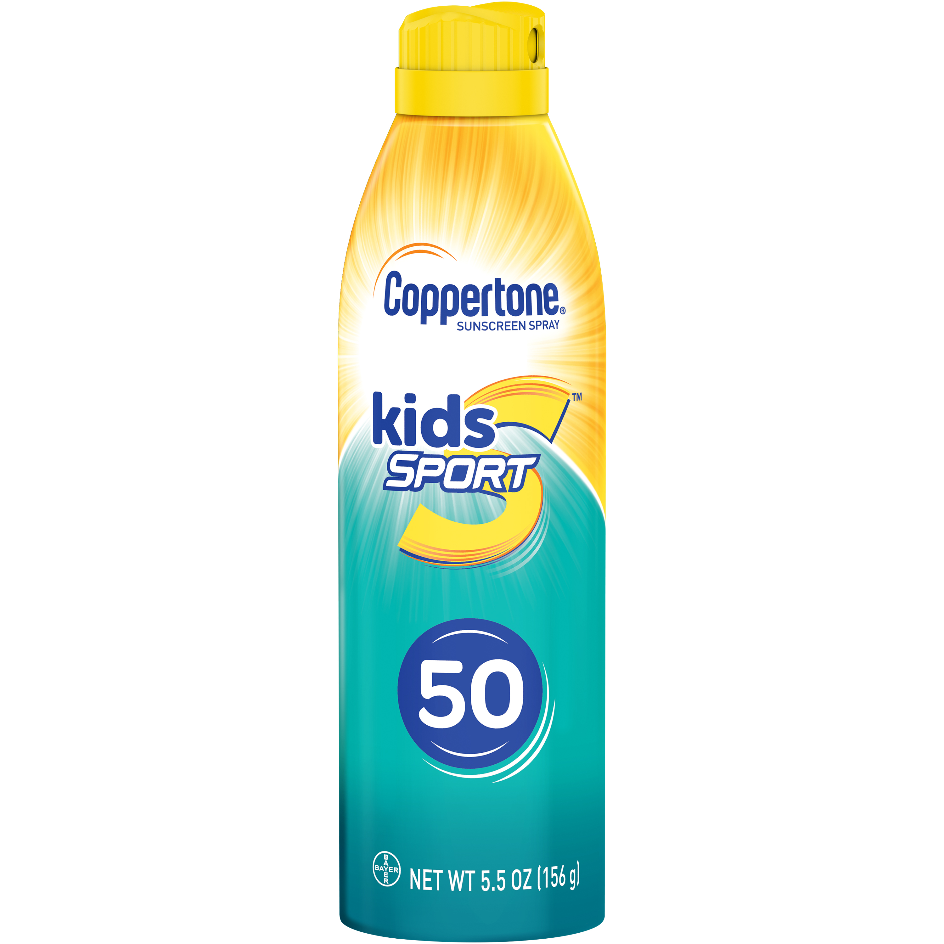 Coppertone Kids Sport Sunscreen Water Resistant Spray SPF 50 5.5 oz