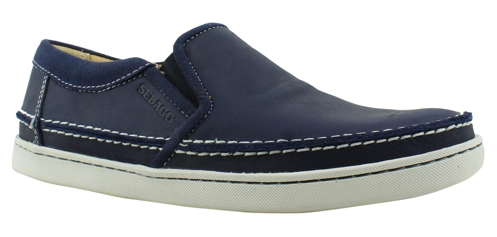 New Sebago Mens Rydeslipon NavyLeather Dress Loafers Size 7 by Sebago