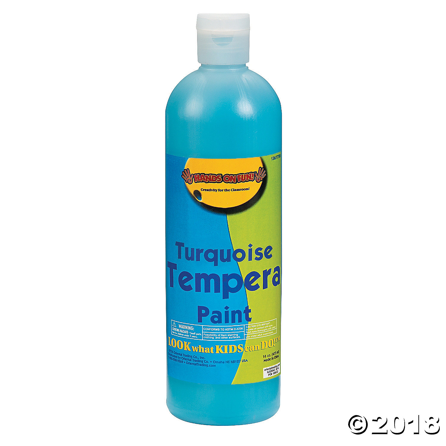16 oz. Turquoise Tempera Paint(pack of 1)