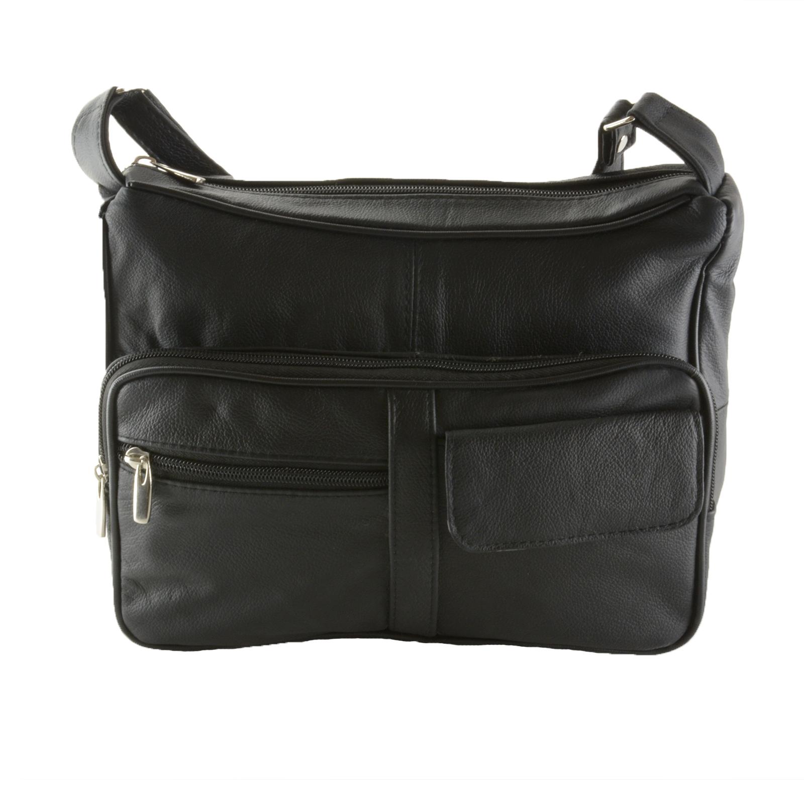 SBR Designs - Women s Leather Organizer Purse Shoulder Bag Multiple Pockets  Cross Body Handbag - Walmart.com b1e0a3682a926