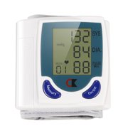 Digital Wrist Blood Pressure Monitor (Measures Pulse, Diastolic and Systolic, Best Reading, High Normal and Low)