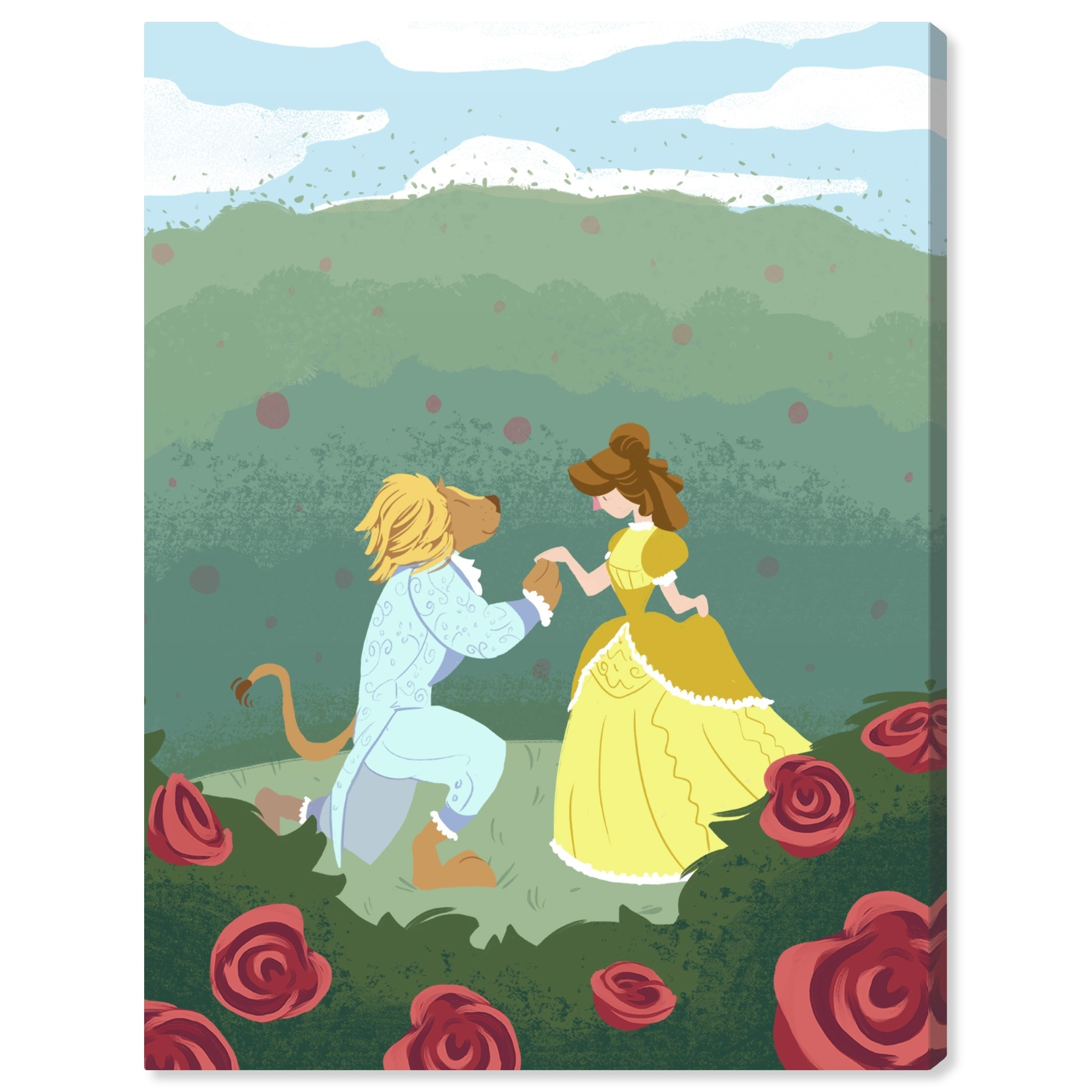 Oliver gal beauty and the beast canvas art