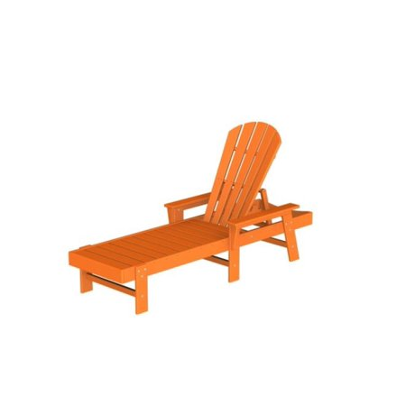 recycled venice beach outdoor patio chaise lounge chair orange tangerine. Black Bedroom Furniture Sets. Home Design Ideas