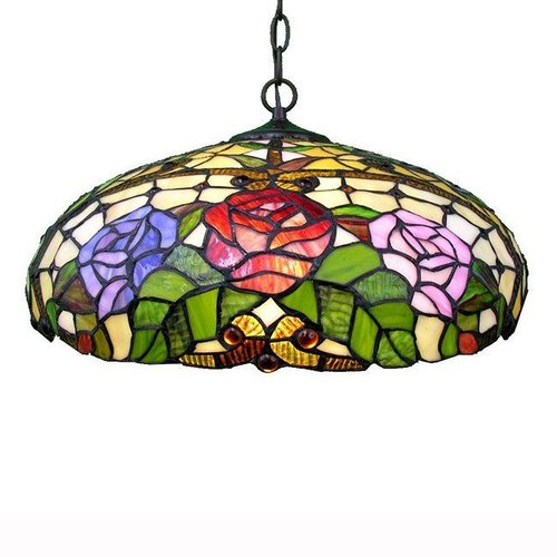 Warehouse of Tiffany WOT-1299 2 Light TiffanyStyle Large Pendant