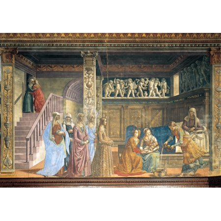 Stories Of The Virgin And St John The Baptist The Nativity Of Mary Canvas Art -  (24 x 18)