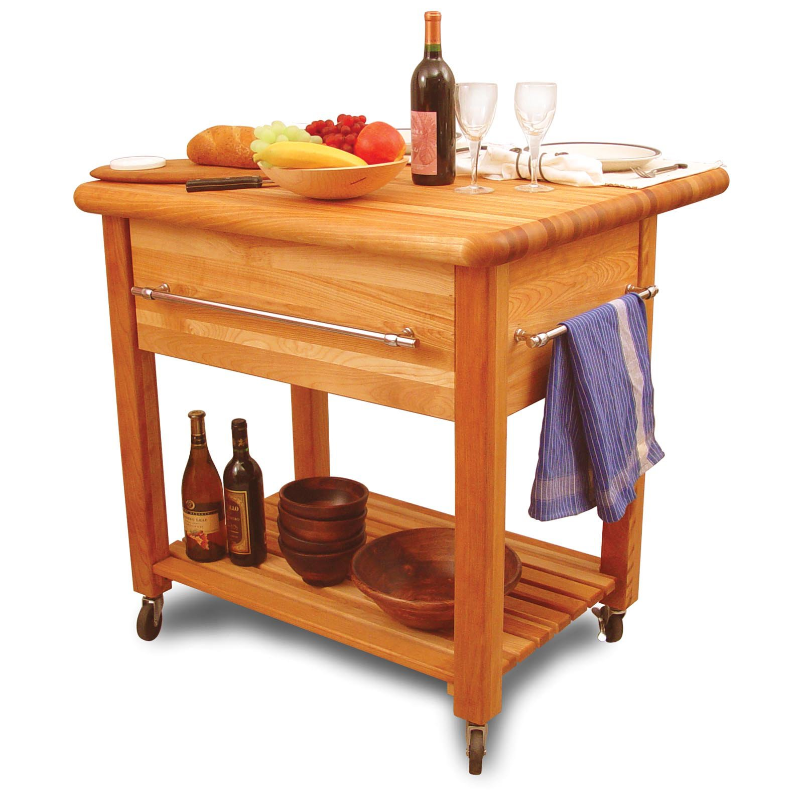 Grand Kitchen Island Workcenter - 8 in. Drop Leaf - Walmart.com