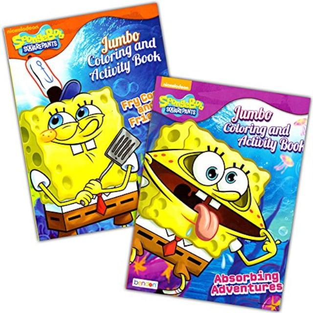 Spongebob Squarepants Coloring Book Set (2 Coloring Books) - Walmart.com -  Walmart.com