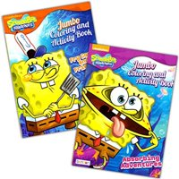spongebob squarepants coloring book set (2 coloring books)