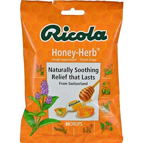 Ricola Cough Drops - Honey Herb - Case of 12 - 50 Count