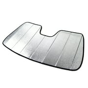 Tuningpros SS-106 Custom Fit Silver and Grey Windshield Sun Shade Protector, Sunshade Visor For 2011-2020 Ford Fiesta - 1 pcs Set SunShade Ford Fiesta 11 12 13 14 15 16 17 18 19 20