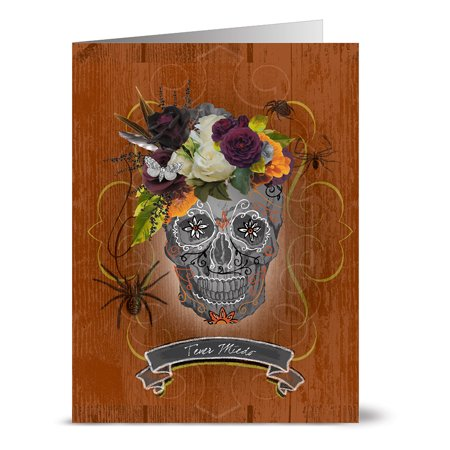 24 Halloween Note Cards - Tener Miedo - Blank Cards - Grey Envelopes Included