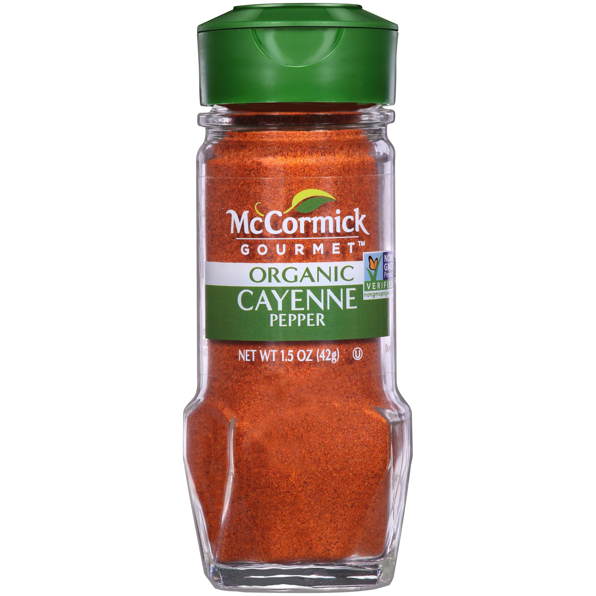 McCormick Gourmet Organic Cayenne Red Pepper, 1.5 oz