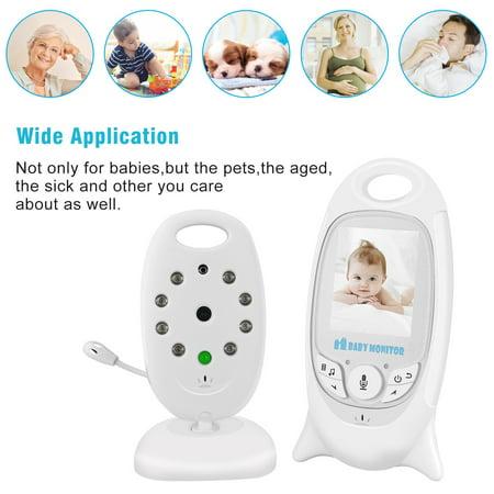 Barbala Baby Monitor Camera, 2 Way Realtime Audio Talkback LCD Screen Digital Video Night Vision Temp Sensor Nanny Security Camera Home Security System - image 6 of 9