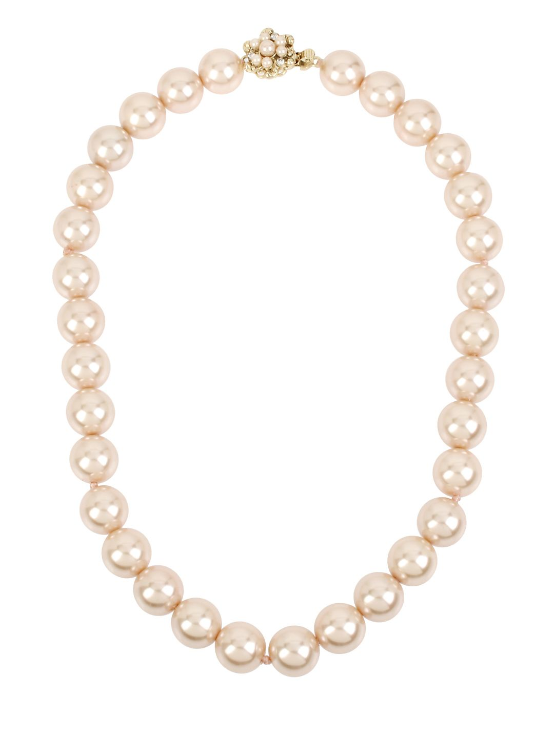 Pearl Basics Faux Pearl Single Strand Necklace