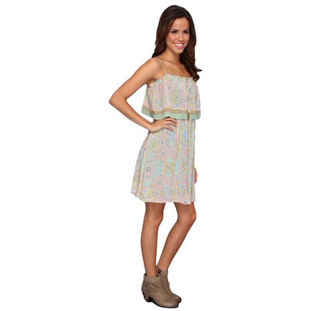 Stetson Western Dress Womens Sundress Print Green 11-057-0590-0282 GR (Cowgirl Western Dresses)
