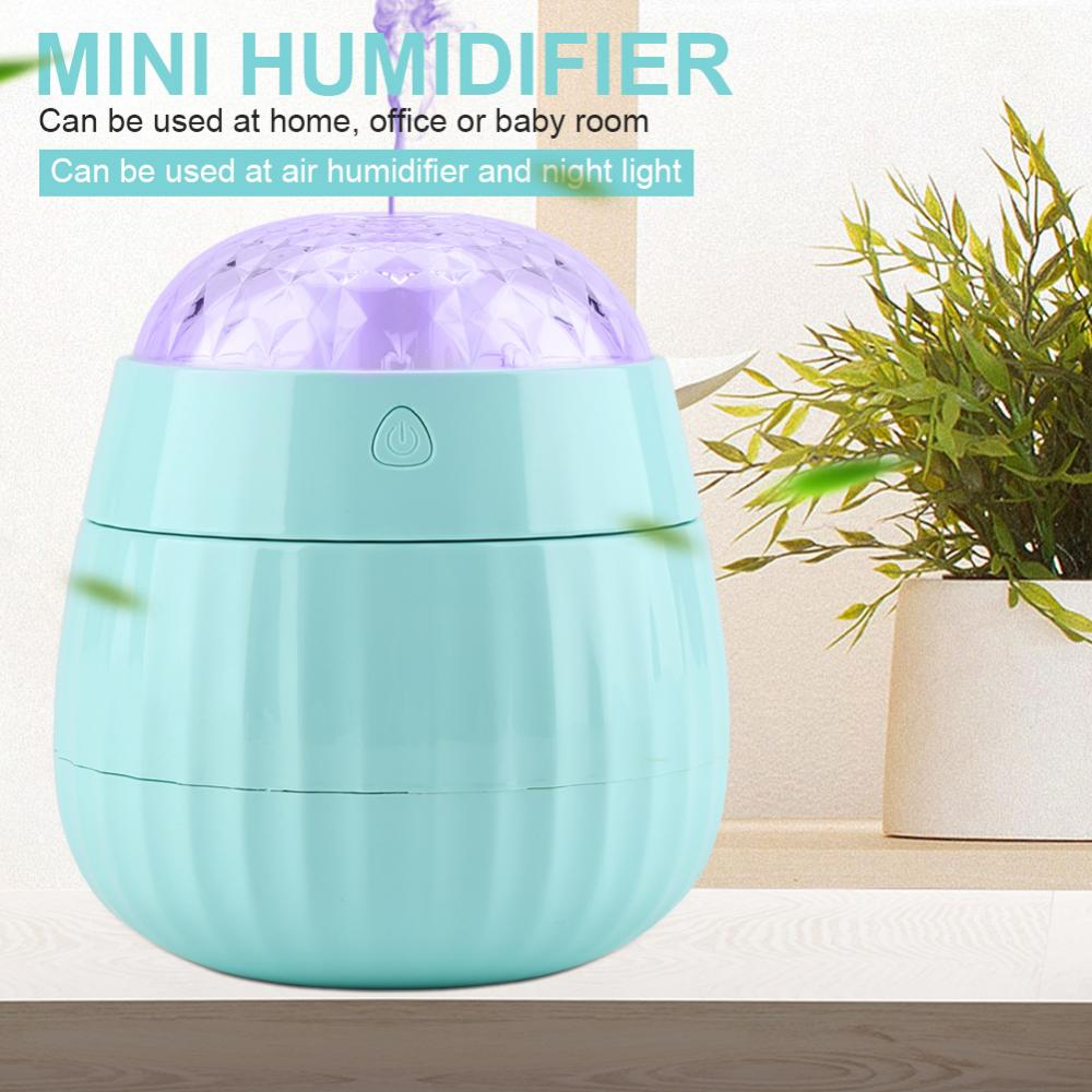 EECOO Electric Appliance,Mini Air Humidifier with USB Port Keep Humidity Colorful Projection light Home Office Home Humidifier