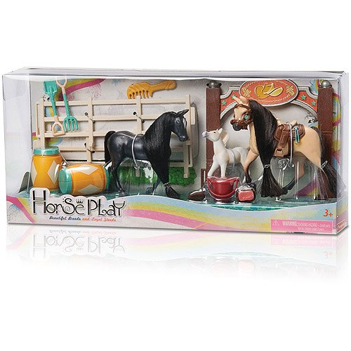 Horse Play Black and Brown Family Champions Horse Set