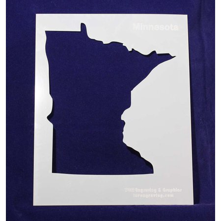 State of Minnesota Stencil - 8 X 10 Inches - Minnesota Vikings Halloween Stencils