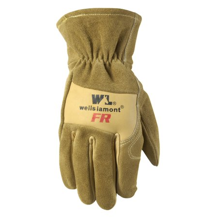 Cowhide Leather Flame Resistant Work Gloves, Tan