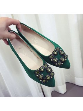 e70384631308 Women Spring Casual Durable Sole Low Cut Pointed Toe Easy Slip On Shoes