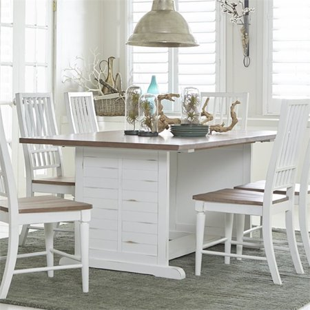Progressive Shutters Dining Table In Light Oak And Distressed White