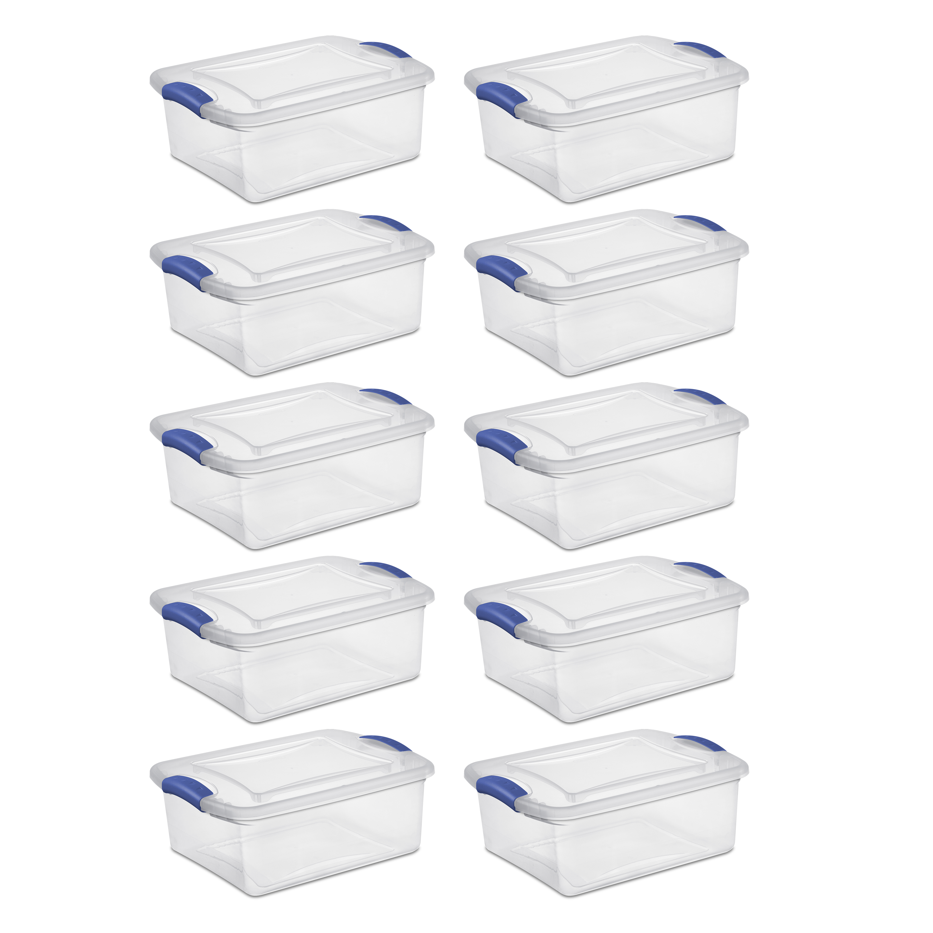 Sterilite, 15 Qt./14 L Latch Box, Stadium Blue, Case of 10