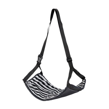 Portable Travel Footrest Flight Carryon Foot Rest Adjustable Height Hammock MultiA ()