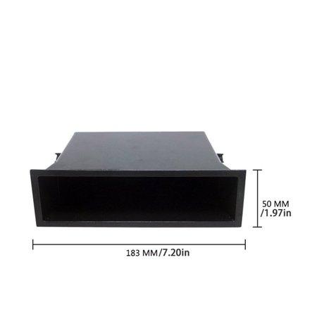 Single Pocket Fascia Din Car Vehicle Radio Cd Storage Box for Nissan - image 6 de 6