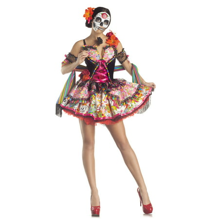 0ab12e8442a Day Of The Dead Plus Size Adult Halloween Costume - Walmart.com