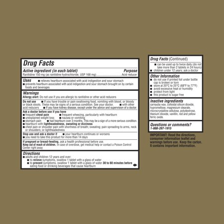 Equate Maximum Strength Acid Reducer Ranitidine Tablets 150 Mg 220