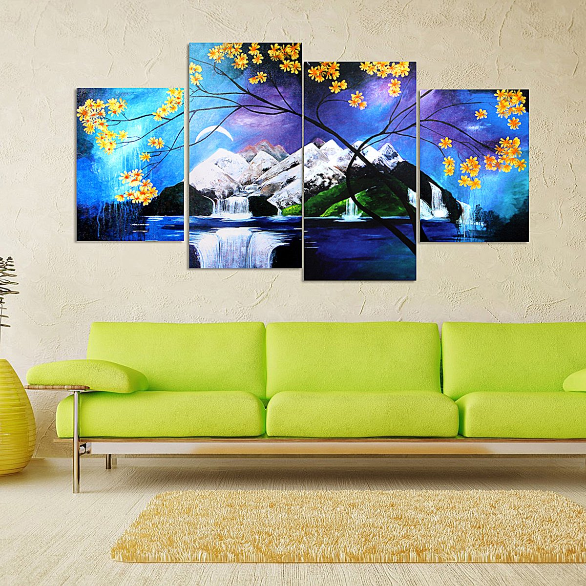 Frameless Painting Picture Canvas Modern Wall Decor Unframed