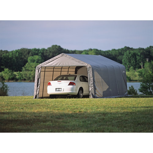 13' x 20' x 10' Peak Style Shelter, Gray by ShelterLogic