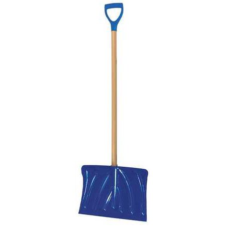 WESTWARD 32KX18 Snow Shovel,Polypropylene,D-Grip