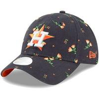 e6eca5e361edb5 Product Image Houston Astros New Era Women's Blossom 9TWENTY Adjustable Hat  - Navy - OSFA