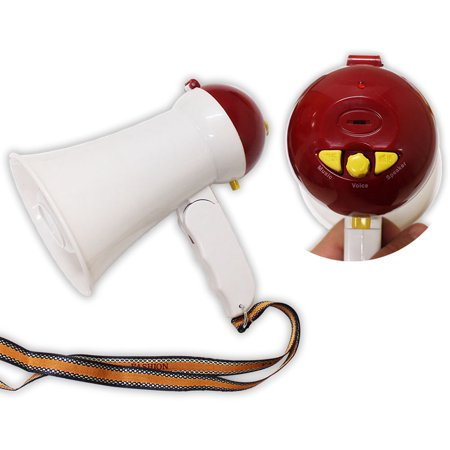 6-Inch Battery Operated Multi-Function Megaphone  (Scurry: