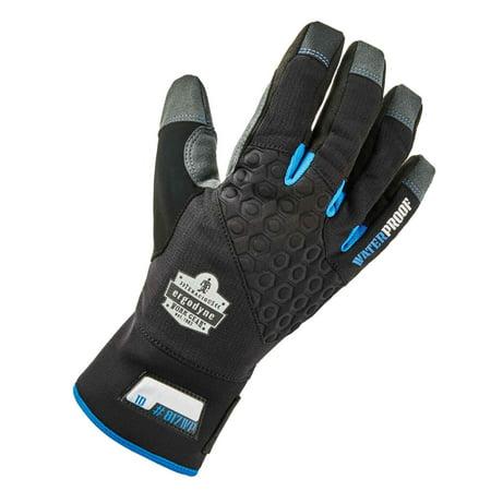 (Ergodyne ProFlex 817WP Reinforced Thermal Waterproof Insulated Work Gloves, Touchscreen Capable, Black, XL)