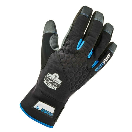Ergodyne ProFlex 817WP Reinforced Thermal Waterproof Insulated Work Gloves, Touchscreen Capable, Black, XL