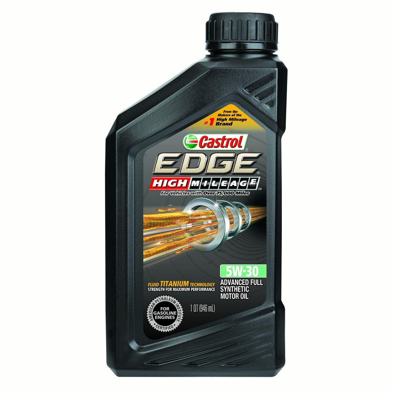 Castrol EDGE High Mileage 5W-30, Full Synthetic Motor Oil, 1 qt by Castrol