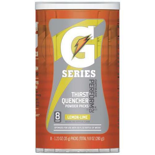 GATORADE 131635 Sports Drink Mix,Lemon-Lime,PK8