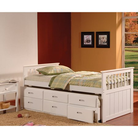 Bella esprit twin trundle captains bed with drawers - White twin captains bed with drawers ...