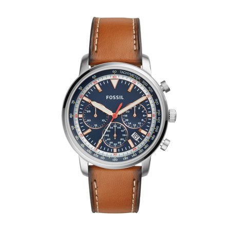 Fossil Leather Band (Fossil Men's Goodwin Light Brown Leather Watch (Style:)