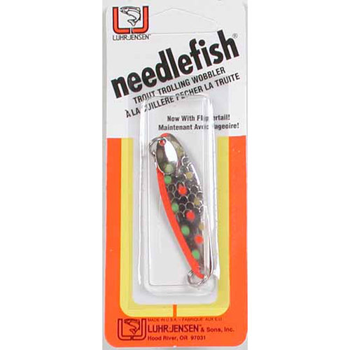 "Luhr Jensen Needlefish 2"" -  Nickel/Bikini"