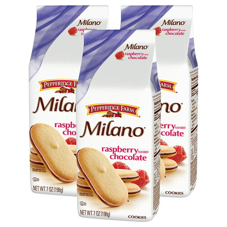 (3 Pack) Pepperidge Farm Milano Raspberry Cookies, 7 oz. Bag
