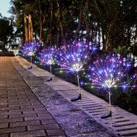 2 PCS Solar Outdoor Firework Light 120 LED Garden Decorative Lights