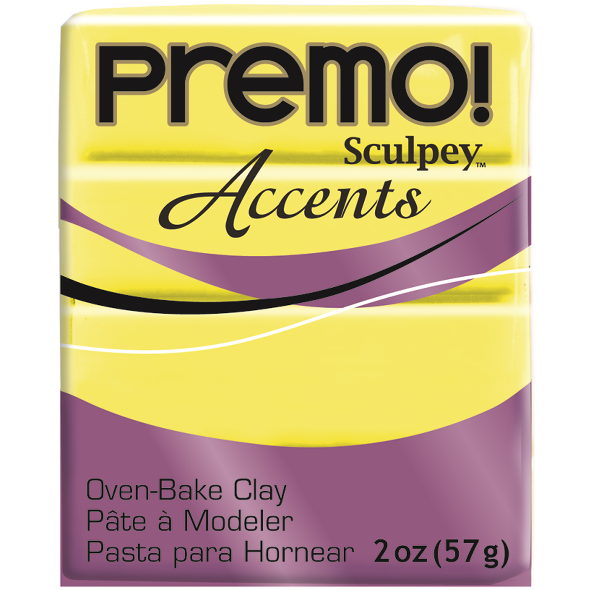 Premo Sculpey Polymer Clay 2oz-Fluorescent Yellow