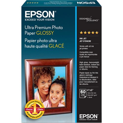 "Epson S042181M Ultra Premium Glossy Photo Paper 4"" x 6"