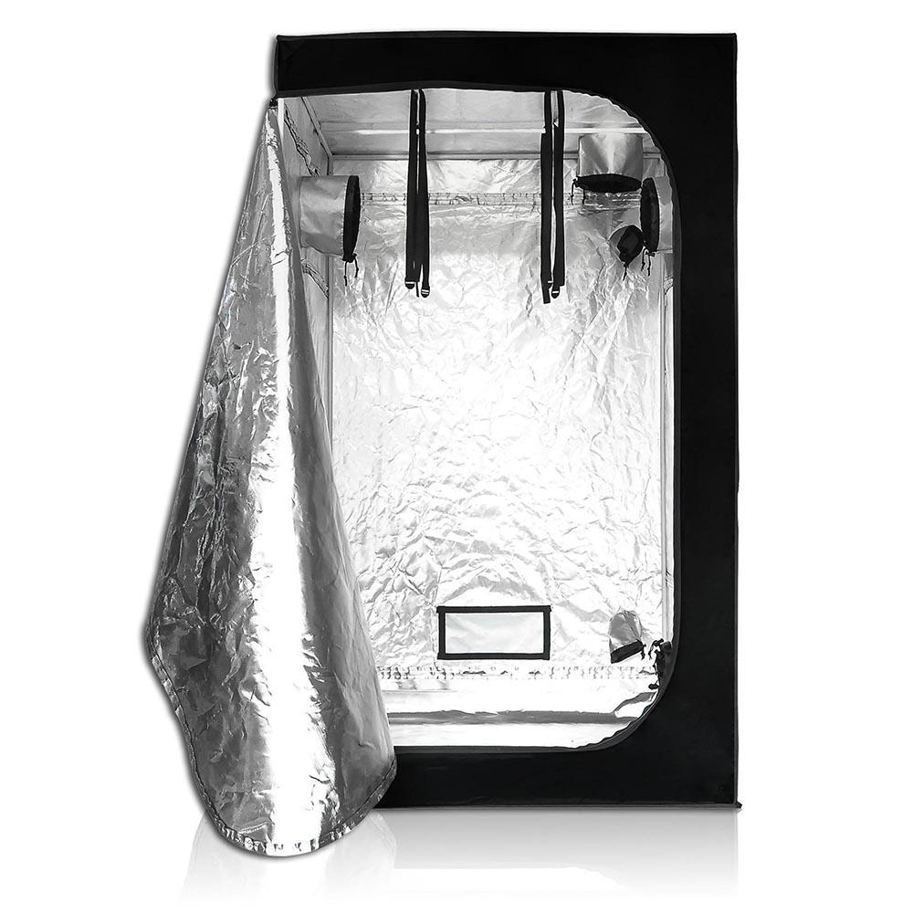 "LAGarden 4x4x6.5Ft 100% Reflective Diamond Mylar Hydroponics Indoor Grow Tent Non Toxic Planting Room 48""x48""x78"""