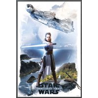 "Star Wars: Episode VIII - The Last Jedi - Movie Poster / Print (Rey & The Millennium Falcon) (Size: 24"" x 36"")"