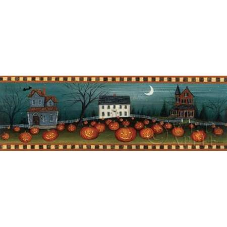 Halloween Eve Crescent Moon Canvas Art - David Carter Brown (12 x 36)](Halloween Bugs David A Carter)
