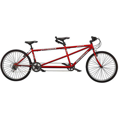 "26"" Micargi Island Tandem Beach Cruiser Bike, Red"